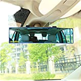 Opar Auto Car 300mm Wide Convex Curve Interior Clip On Panoramic Rear View Mirror