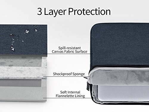 0579d8c2817b 12.3-13.3 Inch Waterproof Laptop Sleeve Bag Fit 2018 MacBook Air 13 A1932,  MacBook Pro 13 Inch, 12.9 Inch iPad Pro, Surface Laptop 2 2018/Surface Book  ...