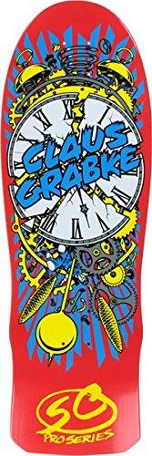 Santa Cruz Claus Grabke Exploding Clock Reissue Red Skateboard Deck - 10'' x 30''