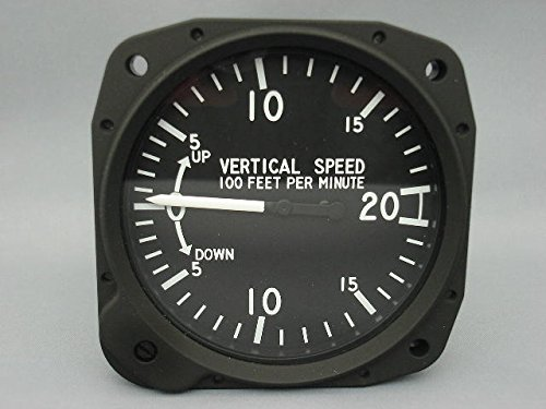 東京航空計器 飛行機用 航空計器 昇降計 (0~2000FT)