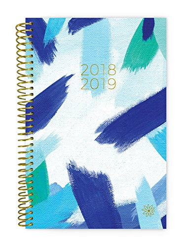 Bloom Daily Planners 2018-2019 Academic Year Day Planner - Monthly and Weekly Calendar Book - Inspirational Dated Agenda Organizer - (August 2018 - July 2019) - 6'' x 8.25'' - Blue Strokes by bloom daily planners