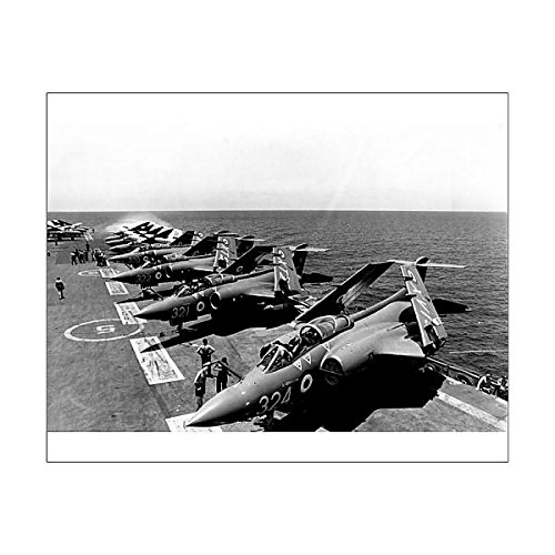 Media Storehouse 10x8 Print of Planes lined up on the deck of RN aircraft carrier HMS Hermes (Hms Aircraft Carriers)