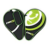 MightySpin Ping Pong Paddle Racket Case - Front Pocket for Balls by Table Tennis Racket Case Bag (Green, Regular)