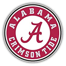 Alabama Crimson Tide NCAA USA College Sport Stamp Logo Vinyl Sticker 5 X 5 inches