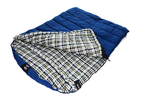 Blackpine Sports Grizzly 2 Person -25 Degree Canvas Sleeping Bag (Blue)