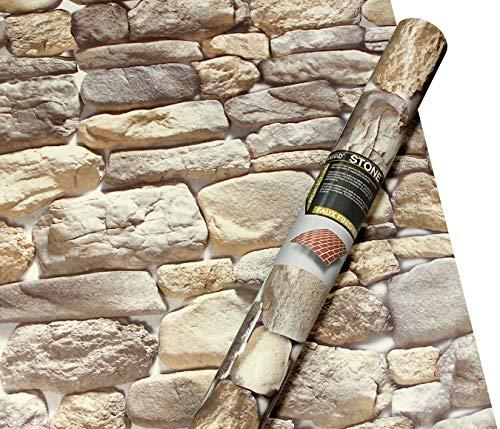 (VViViD Cobblestone Brick Faux Finish Matte Self-Adhesive Architectural Vinyl Roll (16
