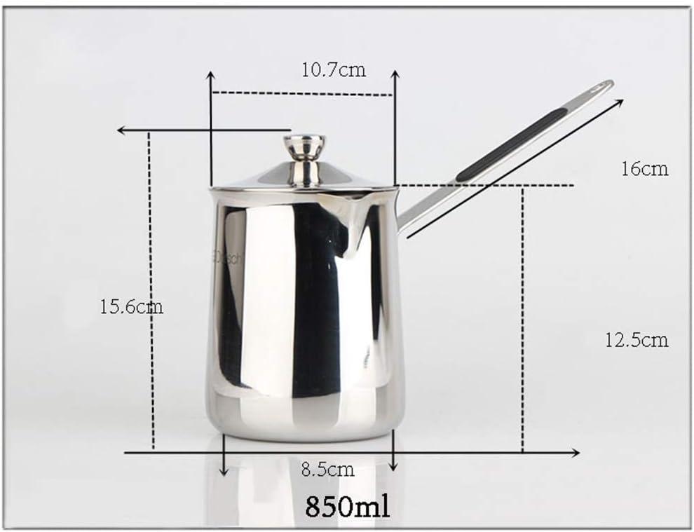 600 ml. ACHICOO Edelstahl Milchtopf Kaffee Tee Kochtopf mit Deckel Antihaftbeschichtung Suppentopf Kochgeschirr Gro/ß