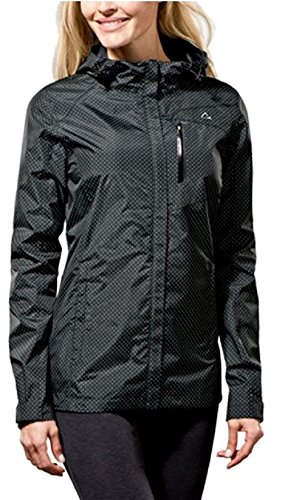 Paradox Waterproof & Breathable Women's Rain Jacket (Medium, Black Dots) (Breathable Water Resistant Jacket)