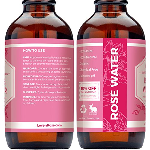 1 TRUSTED Rose Water 100 Organic Natural Moroccan Rosewater Chemical Free 118 Ml