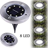wall alarm cover - XEDUO LED Solar Powered Ground Light, 8LED Solar Power Buried Light Ground Lamp Light Spot Lamp for Outdoor Path Way Yard Garden Decking Lawn Waterproof (Warm White)