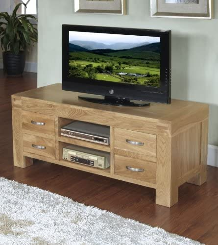 Plaza rústico Oak Furniture Mueble para televisor Armario 4 cajones: Amazon.es: Hogar