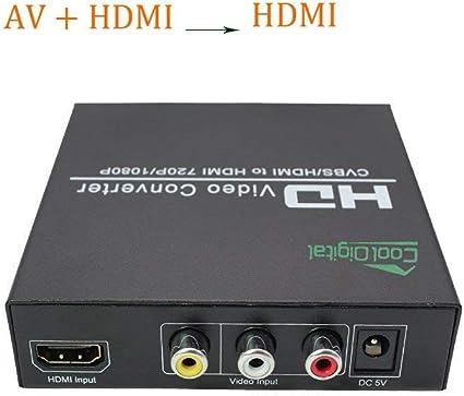AV to HDMI Converter Box Composite AV CVBS 3 RCA to HDMI Video Audio Converter