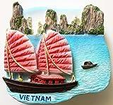 Halong Bay VIETNAM High Quality Resin 3D fridge Refrigerator Thai Magnet Hand Made Craft.