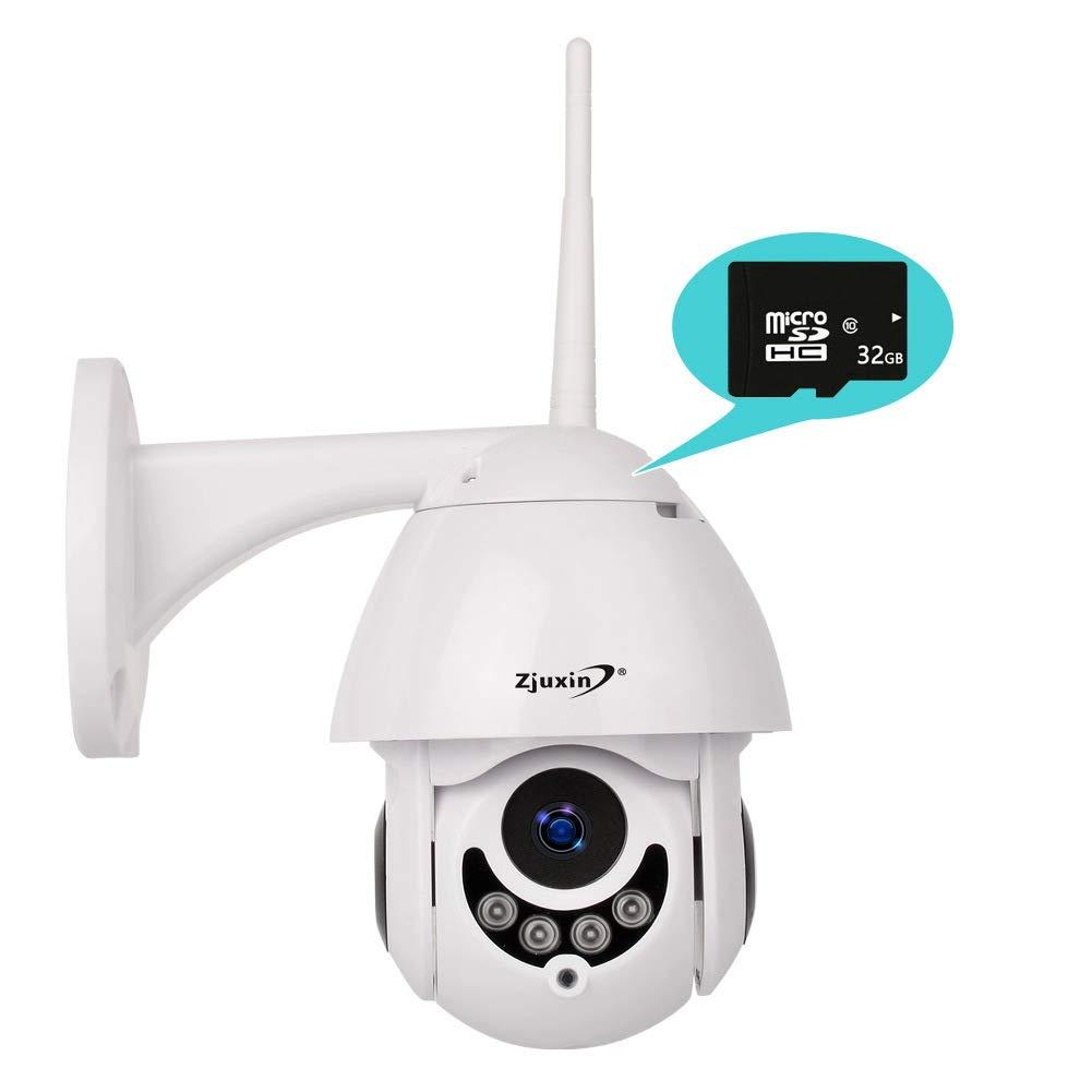 Cam/éra de s/écurit/é WiFi ext/érieure Zjuxin Cam/éra IP sans Fil 1080P Full HD Carte m/émoire 32 Go pr/&ea D/ôme /étanche IP66 avec des alertes de Movement Vision Nocturne Int/érieur dint/érieur
