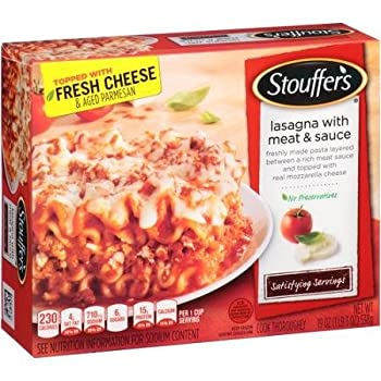 Stouffers Frozen Lasagna With Meat Sauce