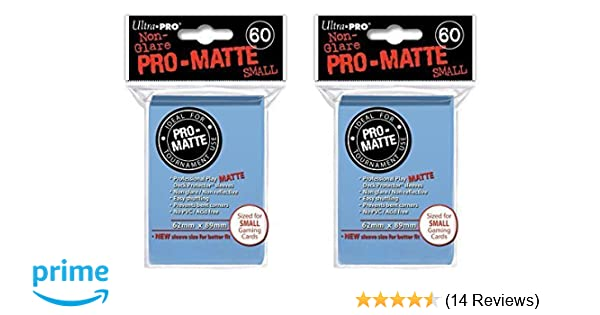 120 ULTRA PRO DECK PROTECTOR SMALL YGO PRO-MATTE LIGHT BLUE SLEEVES
