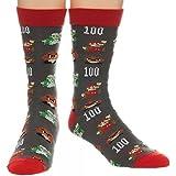 Nintendo Super Mario All Over Print Crew Socks, sock size 10-13, fits shoe size 6-12