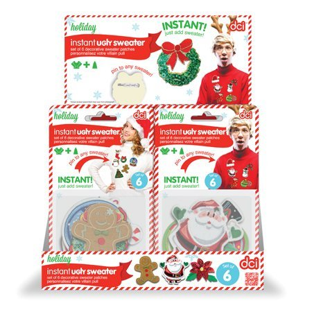 Instant Ugly Sweater DIY Kit (version with Santa on front)