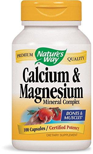 Nature's Way Calcium and Magnesium Mineral Complex, 100 Capsules, 100 Count