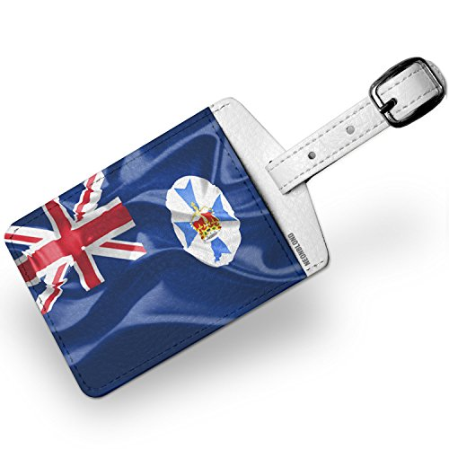 Luggage Tag Australia (Luggage Tag Queensland 3D Flag region: Australia - NEONBLOND)