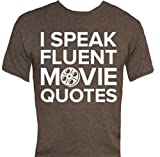 I Speak Fluent Movie Quotes T-Shirt-That Funny Shirt-Large-Charcoal