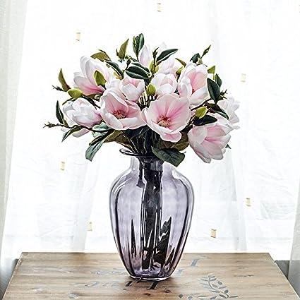 Magnolia cristal jarrón Adhering la vida habitación está decorada emulación de Kit/flor artificial flores