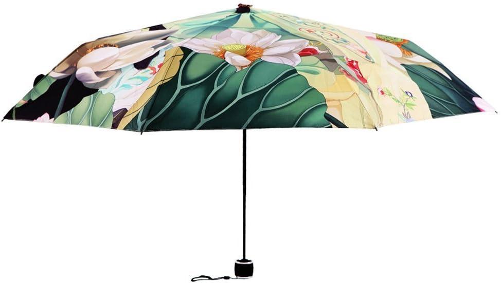 les voyages Big Lazy Cat anti-UV Parapluie tendance pour femme BXT protection solaire SPF 40/+ Multicolore parapluie solide et r/ésistant au vent et /à la pluie - BXT-UM parapluie unique pliable /à 3 niveaux pour la promenade