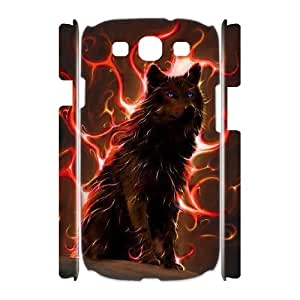 Customized Durable Case for Samsung Galaxy S3 I9300 3D, Wolf Phone Case - HL-R664824 wangjiang maoyi