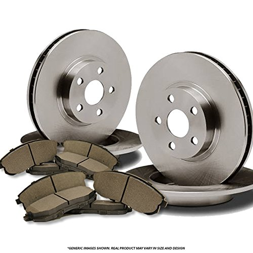 F+R Full Kit^^4 OEM Replacement Disc Brake Rotors + 8 Semi-Metallic Pads^^Toyota - Oem Line Replacement Brake