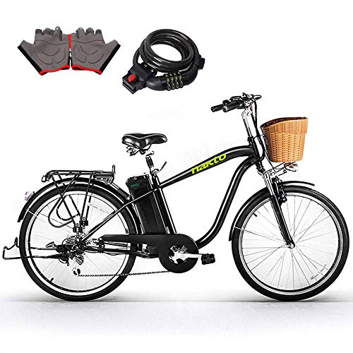 """NAKTO Electric Bicycles 26"""" 250W Electric Bikes for Adult Ebikes"""
