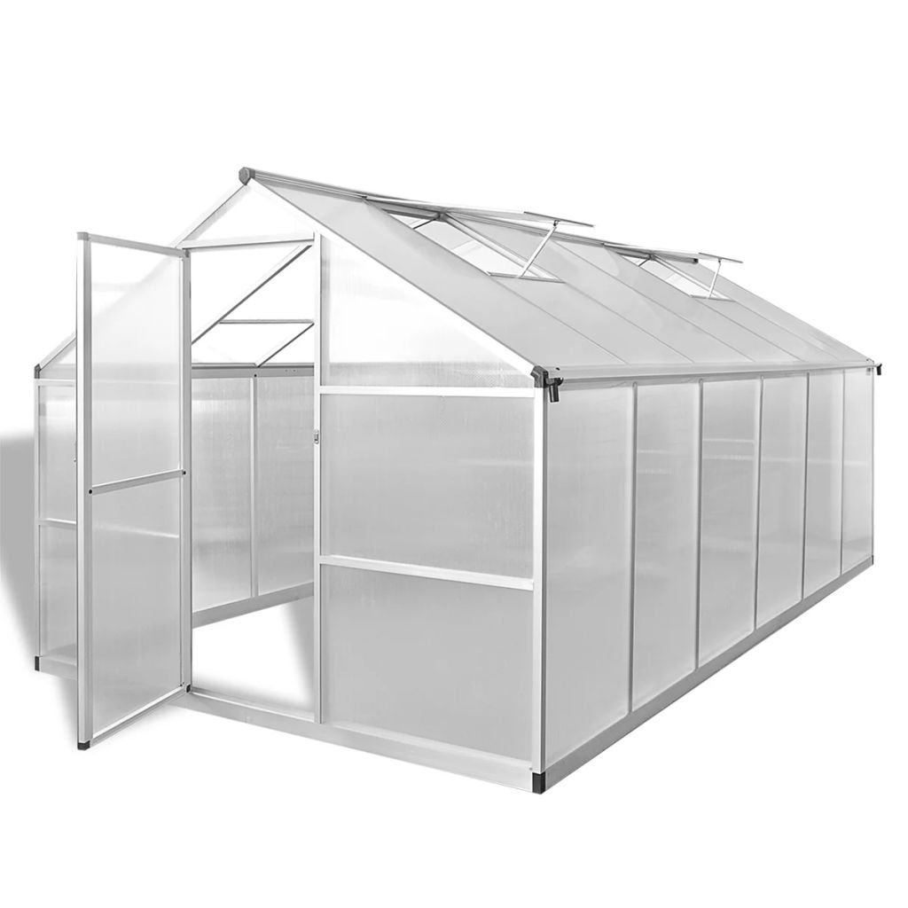 Daonanba Spacious Greenhouse Reinforced Aluminium Gardening Plant Hot House with Base Frame 9.025 m²