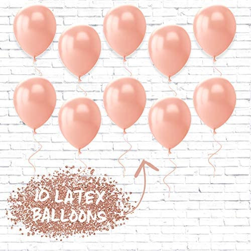 "xo, Fetti Bachelorette Party Decorations - Bride to Be Balloon Kit - Rose Gold - 16"" Bride to BE Foil Balloons + 10 Rose Gold Latex Balloons - Bridal Shower Supplies"