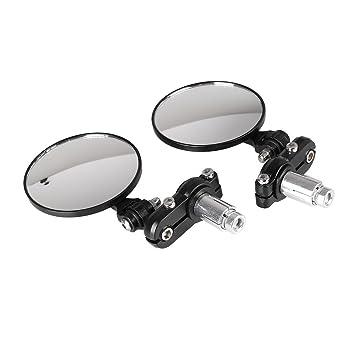 sedeta Manillar de la motocicleta espejo reflector CNC Handle Espejos extremo de la barra: Amazon.es: Coche y moto
