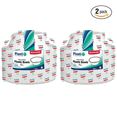 plasti-plus-100-count-disposable-plastic-heavy-weight-bowls-microwave-safe-12-ounce-white-pack-of-2-