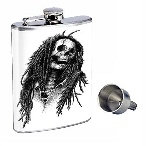 品質満点! Perfection Free Inスタイル8オンスステンレススチールWhiskey Perfection Flask with with Free Funnelスカルdesign-068 B015QNGLNU, 泰阜村:53ba9af5 --- domaska.lt