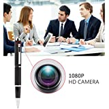 Mini Camera,Real Full HD 1080P Pen Cam Hidden Cameras,Security Surveillance Camera for home, Small Nanny Camcorder Recorder Video DVR with Roller Ball –Black