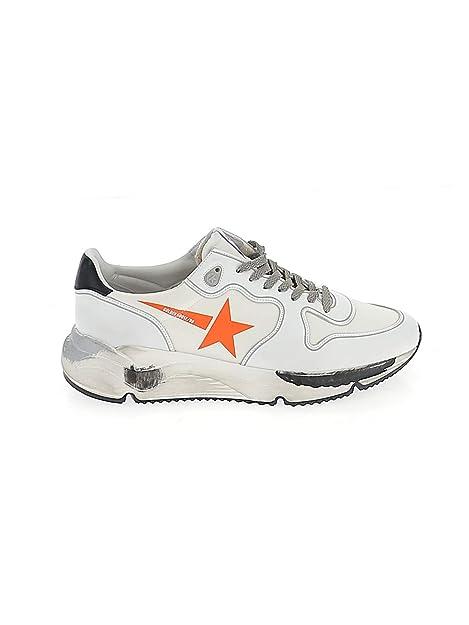 GOLDEN GOOSE G34MS963B3 Hombre Naranja/Blanco Cuero Zapatillas: Amazon.es: Zapatos y complementos