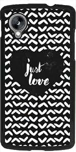 TempleOfDesign Funda para Google Nexus 5 - Sólo El Amor # 1 by Sophie Rousseau