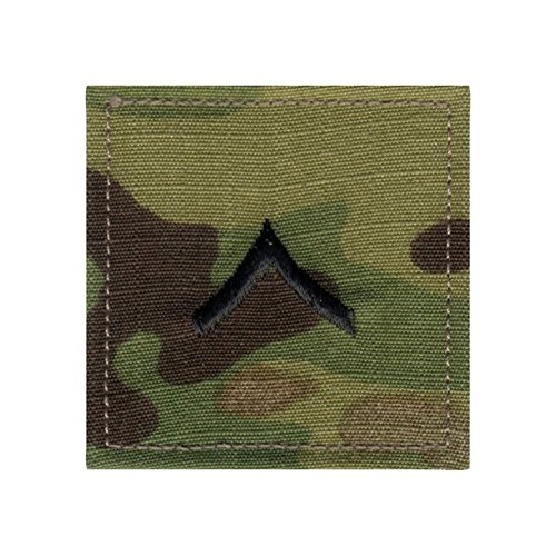 - Authentic Military Rank Insignia US Made (Private - MultiCam)