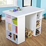 White Counter Height Craft Table
