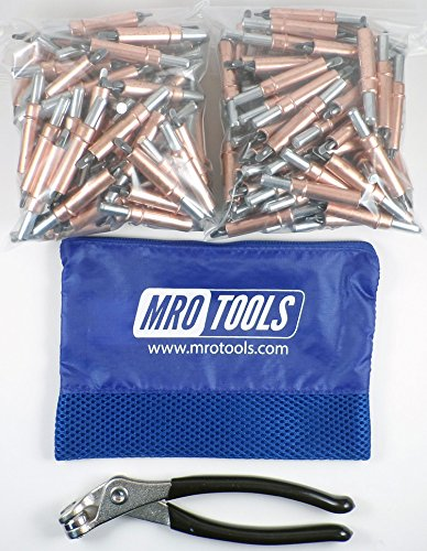 350 1/4 Heavy Duty Cleco Fasteners + Cleco Pliers w/ Carry Bag (KHD1S350-1/4) by MRO Tools Cleco Fasteners