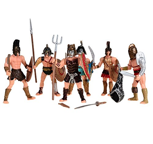 BOHS Medieval Spartan Army Warriors Rome Empire Gladiator Soldiers with Weapon or Shield Action Figures (Medieval Toy Figures)