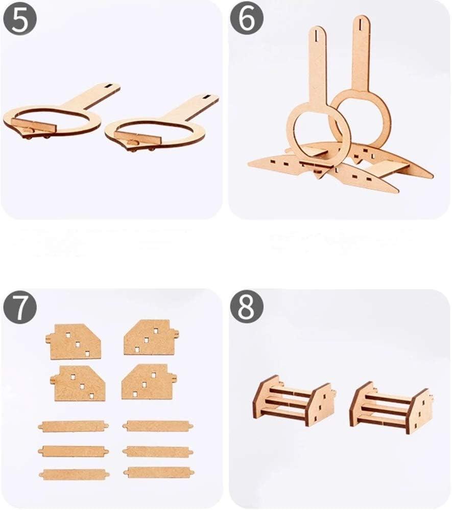 3D Puzzle DIY Handmade Wooden Puzzle Color Love Ferris Wheel Model Puzzle
