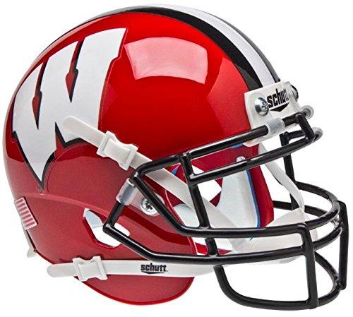 NCAA Wisconsin Badgers Red/Black Mini Helmet, One Size, White