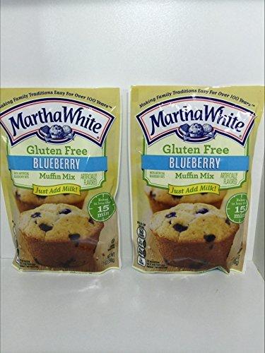 Martha White Gluten Free Blueberry Muffin Mix 7 Oz. - Pack of 2