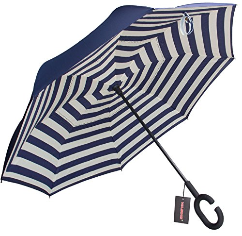 WASING Inverted Umbrella Windproof Protection