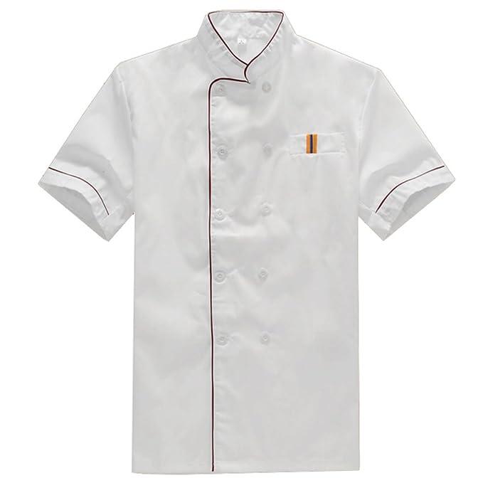 NiSengs Unisex Giacca da Chef Elegante Red Rim Design Divise da Cuoco con  Pocket Uniformi per Cucina Mensa Hotel  Amazon.it  Abbigliamento 629ea4c08b4b