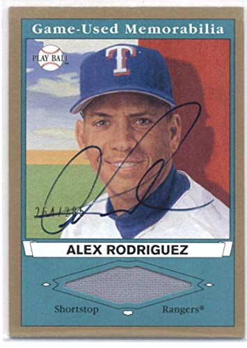 2003 Upper Deck Play Ball Game Used Memorabilia Tier 2 Signatures #AR2 Alex Rodriguez JSY AU - Texas Rangers MLB Baseball Card (Memorabilia/Game Used) (On Card Autographed) /285 NM-MT