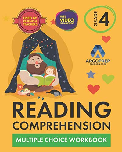 4th Grade Reading Comprehension Workbook: Daily Practice Workbook - Part I: Multiple Choice | 600+ Practice Questions and Video Explanations | Argo Brothers ()
