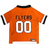 NHL Philadelphia Flyers Jersey for Dogs & Cats, Large. - Let Your Pet be a Real NHL Fan!